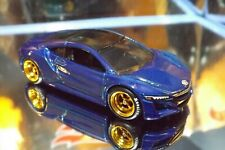 2019 Hot Wheels Real Riders Custom '17 ACURA NSX in Blue. HW Exotics 9/10