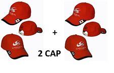 OFFERTA 2 CAPPELLINI CAPPELLO HONDA  SUPER AGURI F1 TEAM  ROSSI RED  CAP HAT