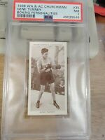 1938 Churchman's Boxing Personalities #35 GENE TUNNEY PSA 7 NM (A)