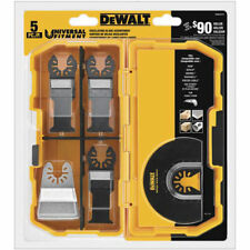 DeWalt DWA4216 Universal Fitment Oscillating Tool 5-Piece Blade Set w/ Case New