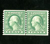 US Stamps # 452 Sup Line pair OG NH Scott Value $160.00
