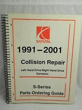 SATURN 1991- 2001 COLLISION REPAIR & S SERIES PARTS ORDERING GUIDE MANUAL 2T