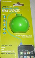Live Love Music GREEN NEON SPEAKER Compatible w/ Samsung Galaxy S3 iPod & iPhone