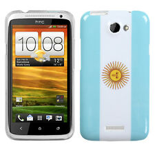 For AT&T HTC ONE X HARD Protector Case Snap On Phone Cover Argentina Flag