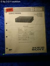 Sony Service Manual ST 818M Tuner (#2391)