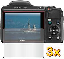 3x Anti-Glare LCD Screen Protector Film Camera Nikon Coolpix L320 L330 L810 L820