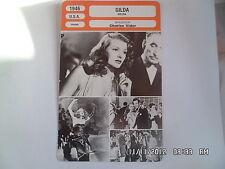 CARTE FICHE CINEMA 1946 GILDA Rita Hayworth Glenn Ford George Mac Ready