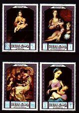 Dubai 1969 Mi.341/44 fine used c.t.o. Gemälde Paintings Rubens Murillo
