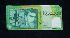 10  x  ONE MILLION DOLLAR  NOTES .. $1,000,000 .. NED KELLY