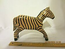 Zebra Stylized African Art Beautiful Vintage Hand Carved Wooden