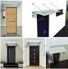 Home Systeme - Glasvordach Milchglas Satiniert Türvordach Vordach Edelstahl VSG