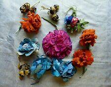 ANTIQUE VINTAGE LOT MILLINERY FLOWERS HAT TRIM DOLLS ART DECO FLAPPER GATSBY