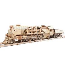 UGEARS - Mechanical Wooden Model V-express Steam Train - Release