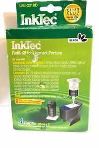 Inktec Refill Kit Lexmark Printer New Package with 4 Refills (Black)