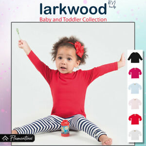 Baby Long Sleeve T-Shirt Larkwood Tee Top Crew Neck Toddler Boys Girls