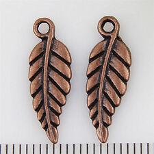 25pcs zinc alloy Copper Leaves charms pendants 19mm 1A1931