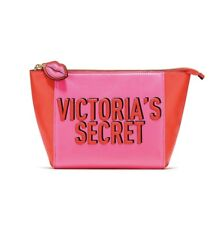 Victoria Secret Beauty Zip Pouch Cosmetic Makeup Bag Nwt Free Shipping Pink/Red