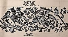 Cecilia Bonifacio. Original wallpaper design. Arts & Crafts. Flora and Basilisk.