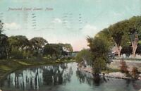 Postcard Pawtucket Canal Lowell MA 1909