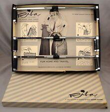 Vtg Riba Self Adjusting Spring Tension Trouser Hangers Pants Set of 3 New in Box
