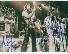 CHICAGO BAND SIGNED AUTOGRAPHED 8x10 RP PHOTO CLASSIC ROCK ALL 5 PANKOW SCHEFF