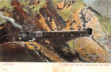 MEXICO~FERROCARRIL del SUR-PASANDDO por un TUNNEL-J.C.S. #574 POSTCARD 1900s