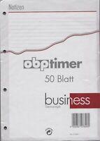bsb business A4 Notizpapier LINIERT Terminplaner Refill Einlage 50 Blatt 02-0050
