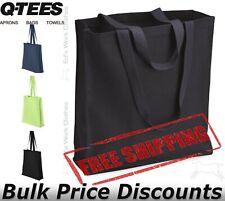 Q-Tees 13.7Lt Gusseted Canvas Shopping Bag Q125300 14x15x4