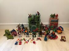 GIGANTIC Masters of the Universe MOTU Collection Lot He-Man Castle Grayskull Etc