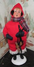 BYERS CHOICE CAROLER Snow Day Kid with Skates 2016 *