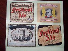 More details for 4 festival of britain  beer bottle labels.   glued onto  card.   see details