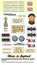 1971-72: A65L LIGHTNING -BSA A65L Decals- Full Set