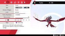 Pokemon Yveltal  shiny 6IV + masterball - Battle Ready - Pokémon Epée/Bouclier