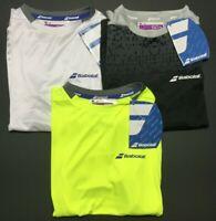 New Babolat Sport UPF 50+ Crew Neck Top Match Tennis T Shirt Youth Boy's 6-8 Lot