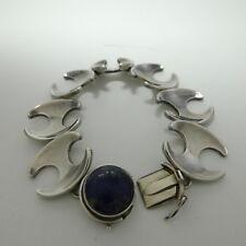 Georg Jensen Bracelet #130B Lapis Lazuli Sterling Silver 925 Koppel