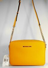 MICHAEL KORS JET SET TRAVEL Sun Saffiano Leather Cross Body Bag Msrp $148.00