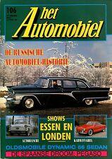 1989 HET AUTOMOBIEL MAGAZIN 106 KARMANN GHIA AUTOBIANCHI DYNAMIC 66 SEDAN