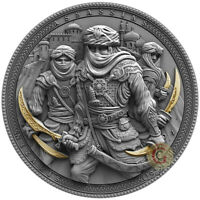 NIZARIS Assassins 2 Oz Silver Coin 5$ Niue 2019