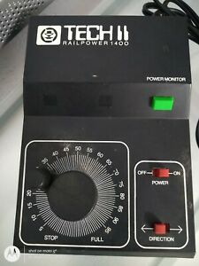 MRC TECH II RAILPOWER 1400 HO/N SCALE TRANSFORMER / CONTROLLER NEEDS REPAIR