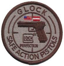 GLOCK Iron On Stoffaufnäher - Safe Action Pistols 02