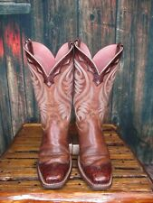 Ladies Ariat Brown Russet Rebel Square Toe Cowgirl Boots Sz:6.5 B
