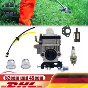 Für Motorsense 52ccm 49ccm Fuxtec Timbertech Rotfusch Freischneider Vergaser Kit