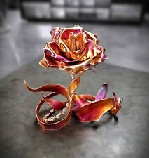 Copper Rose #1837 Thank You 7th Anniversary Valentine's Mother's Day Christmas