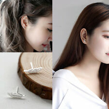 Earring Piercing Tragus Stud Feather Ear Cartilage Stainless Steel 1Pair NEW