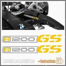 2pz Adesivi Bianco Giallo compatibile con Becco Anteriore Moto BMW R 1200 GS LC