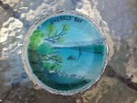"Vtg Efco Emerald Bay Lake Tahoe 5.5"" Souvenir Plate Made In Japan"