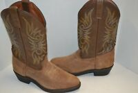 Mens Cody James CJ4242 Nubuck Cowboy Boots 9.5 D Embroidered DISTRESSED BROWN