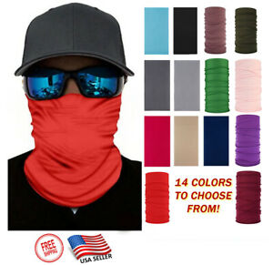 Solid color Face Mask Balaclava Neck Gaiter Biker Tube Bandana Fishing Face Mask