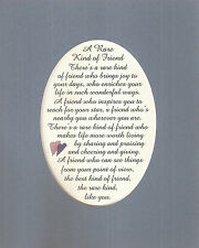 RARE Best FRIENDS Friendship INSPIRES Sharing GIVING Joy verses poems plaques