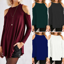 New listing US STOCK Women Off Shoulder Blouse Lounge Wear Sports Gym Shirt Tops Tee T-Shirt